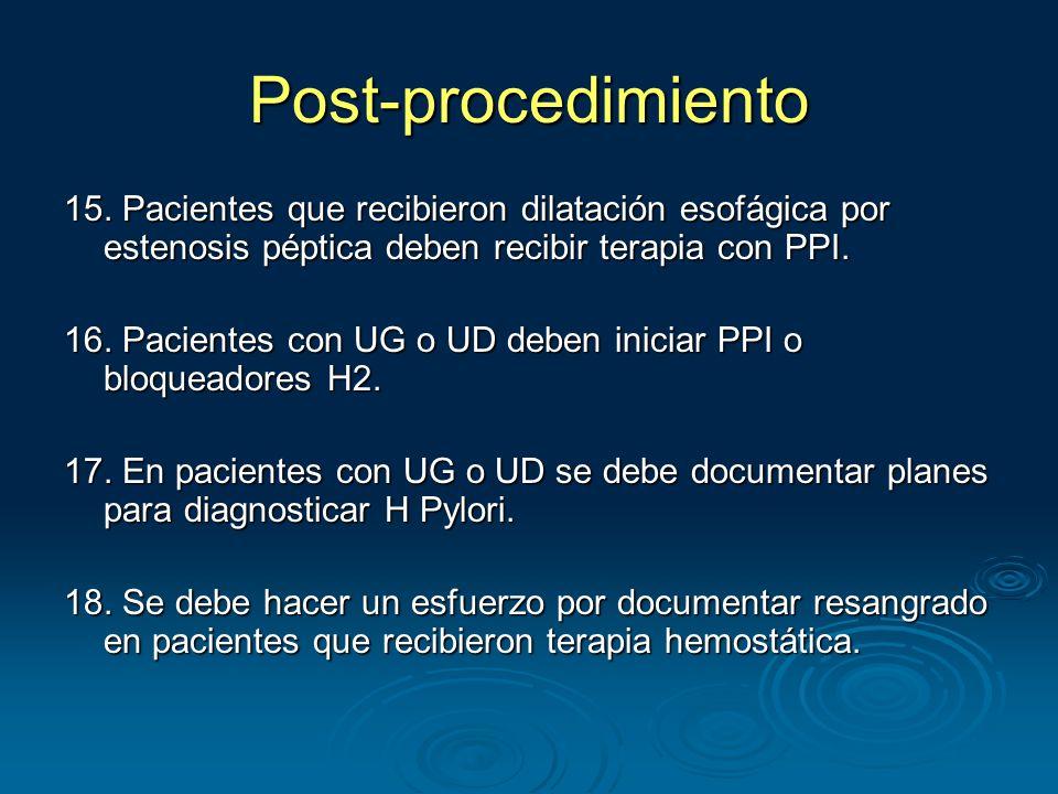 Post-procedimiento 15.