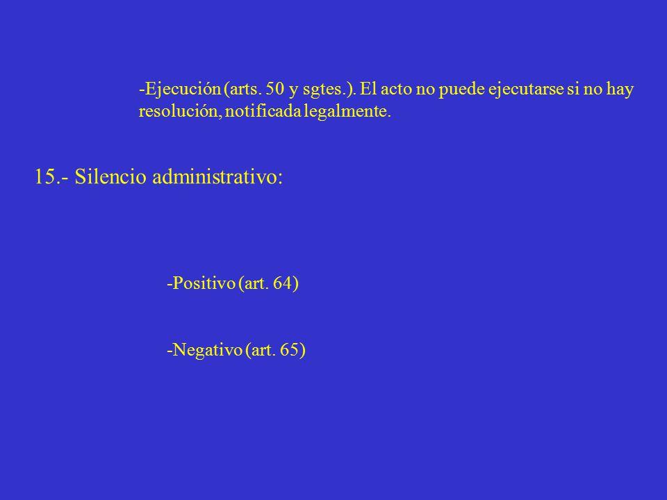 -Ejecución (arts. 50 y sgtes.).