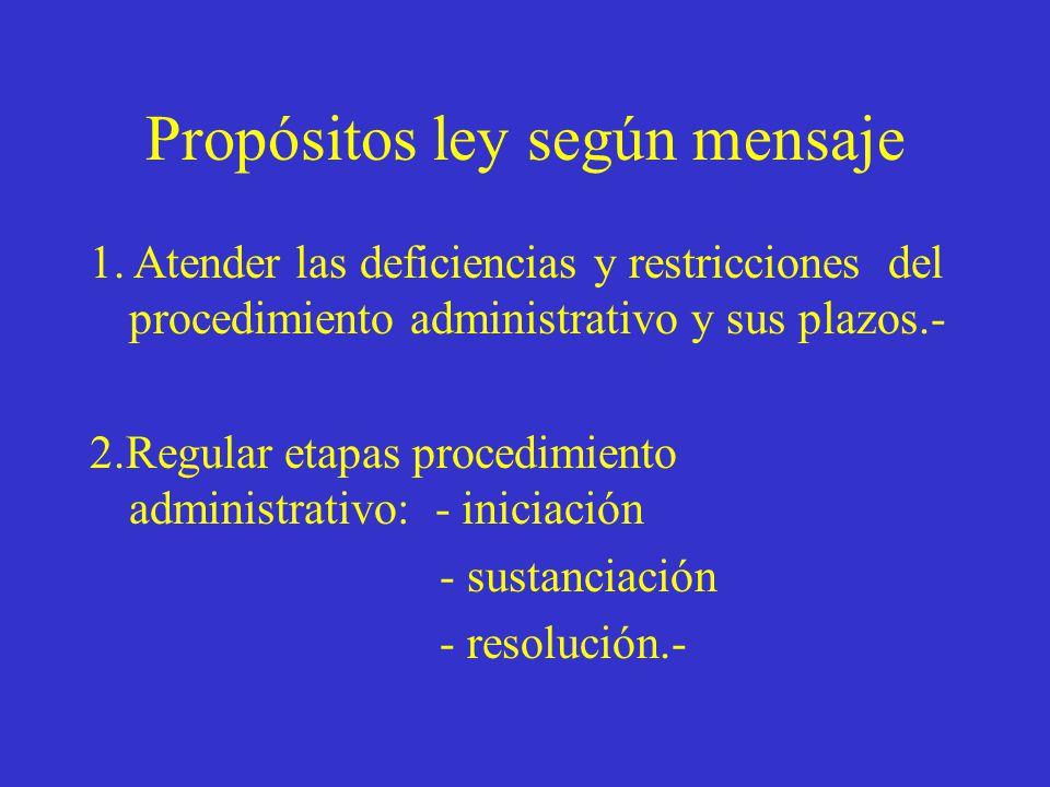 Propósitos ley según mensaje 1.