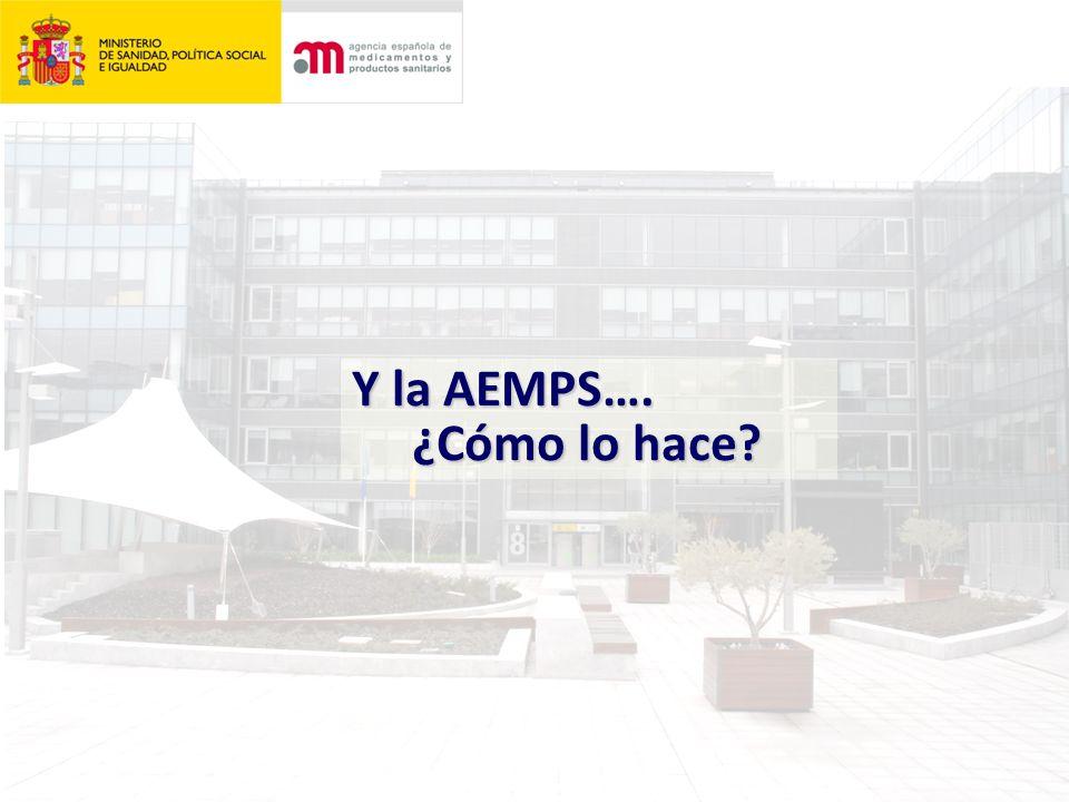 Y la AEMPS…. ¿Cómo lo hace ¿Cómo lo hace