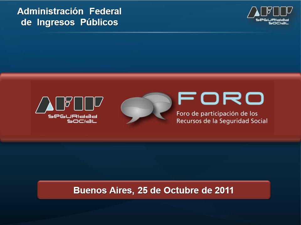 Administración Federal de Ingresos Públicos Buenos Aires, 25 de Octubre de 2011
