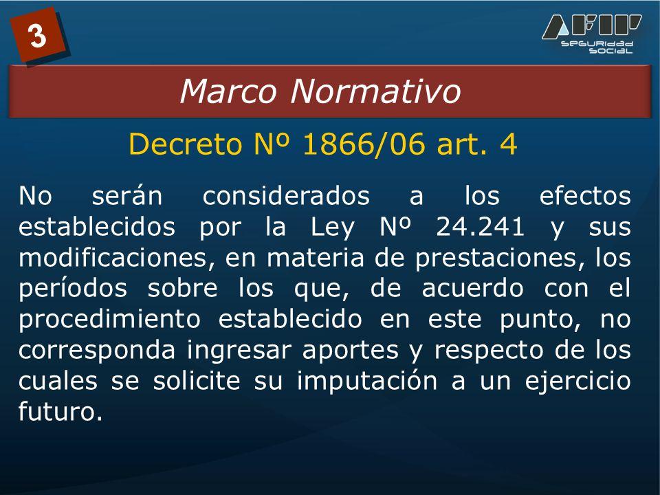 3 Marco Normativo Decreto Nº 1866/06 art.