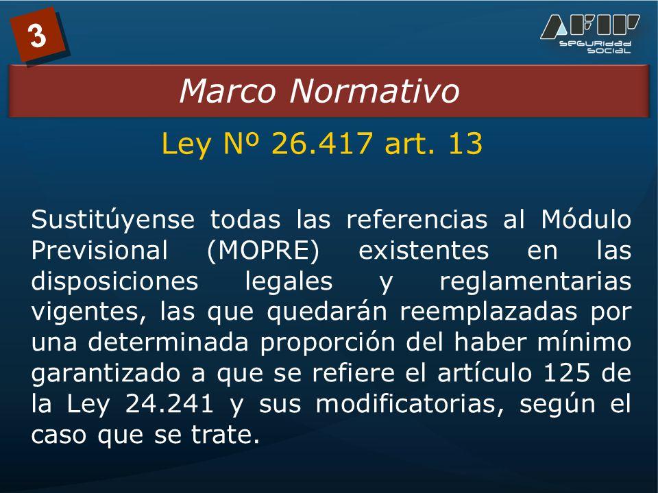 3 Marco Normativo Ley Nº 26.417 art.
