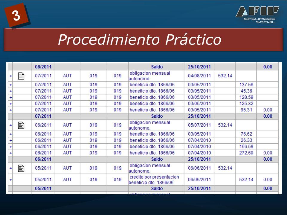 3 Procedimiento Práctico