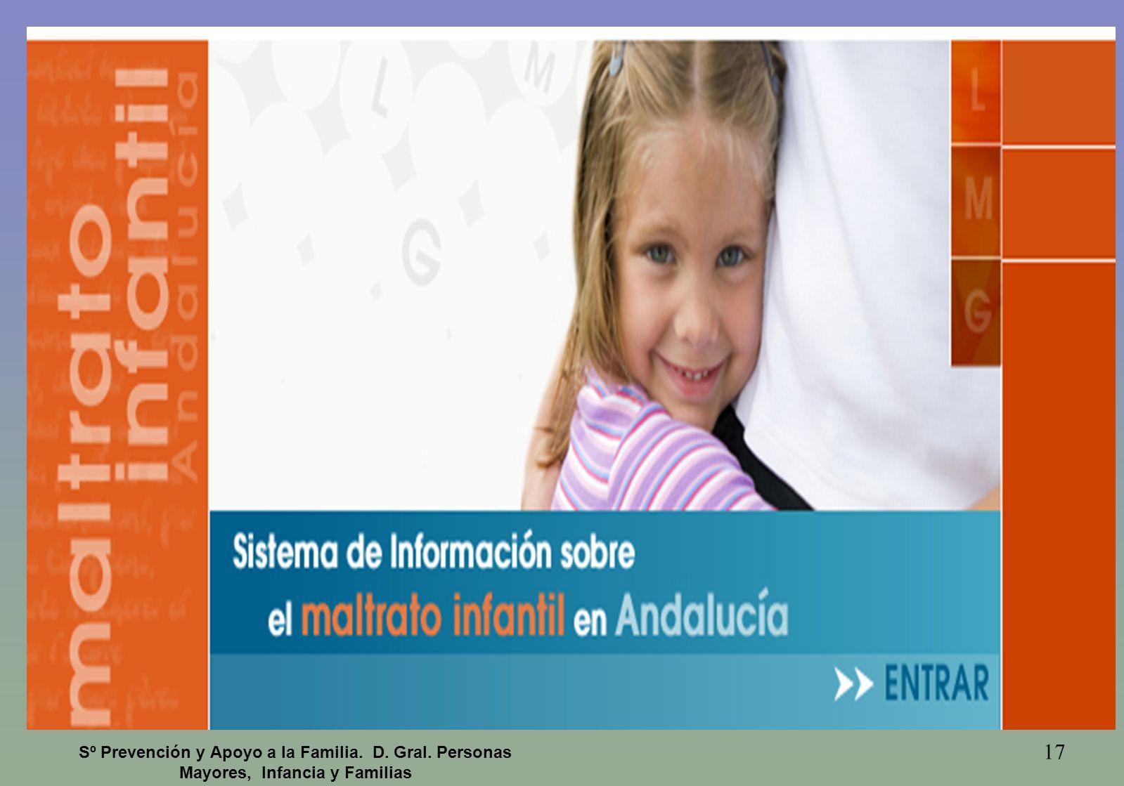 17 Sº Prevención y Apoyo a la Familia. D. Gral. Personas Mayores, Infancia y Familias