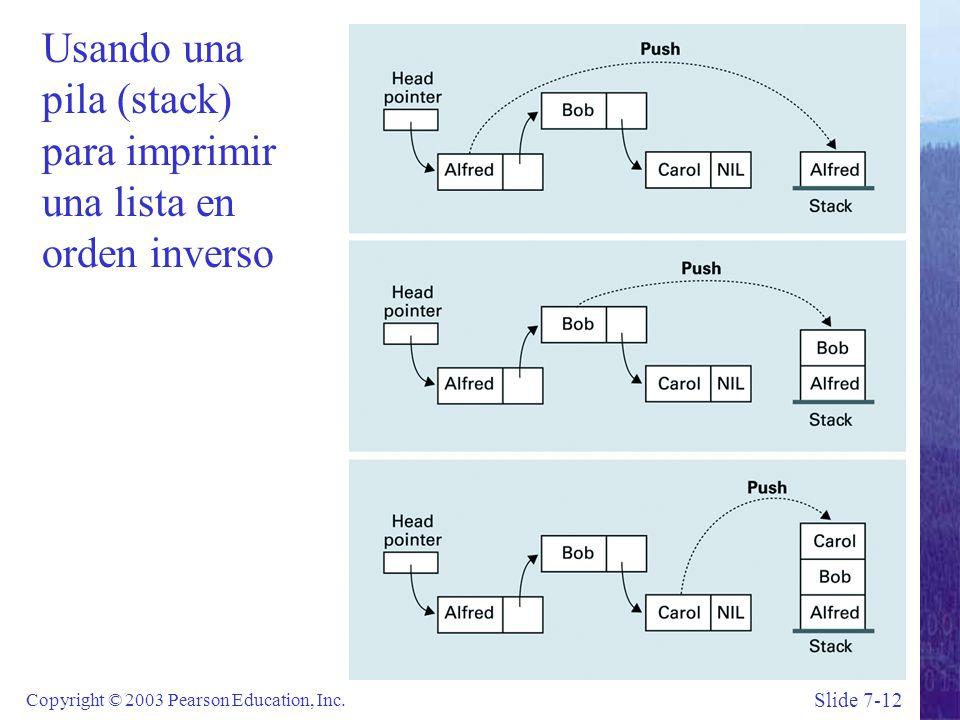 Slide 7-12 Copyright © 2003 Pearson Education, Inc.
