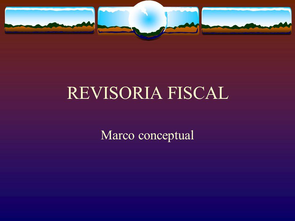 REVISORIA FISCAL Marco conceptual