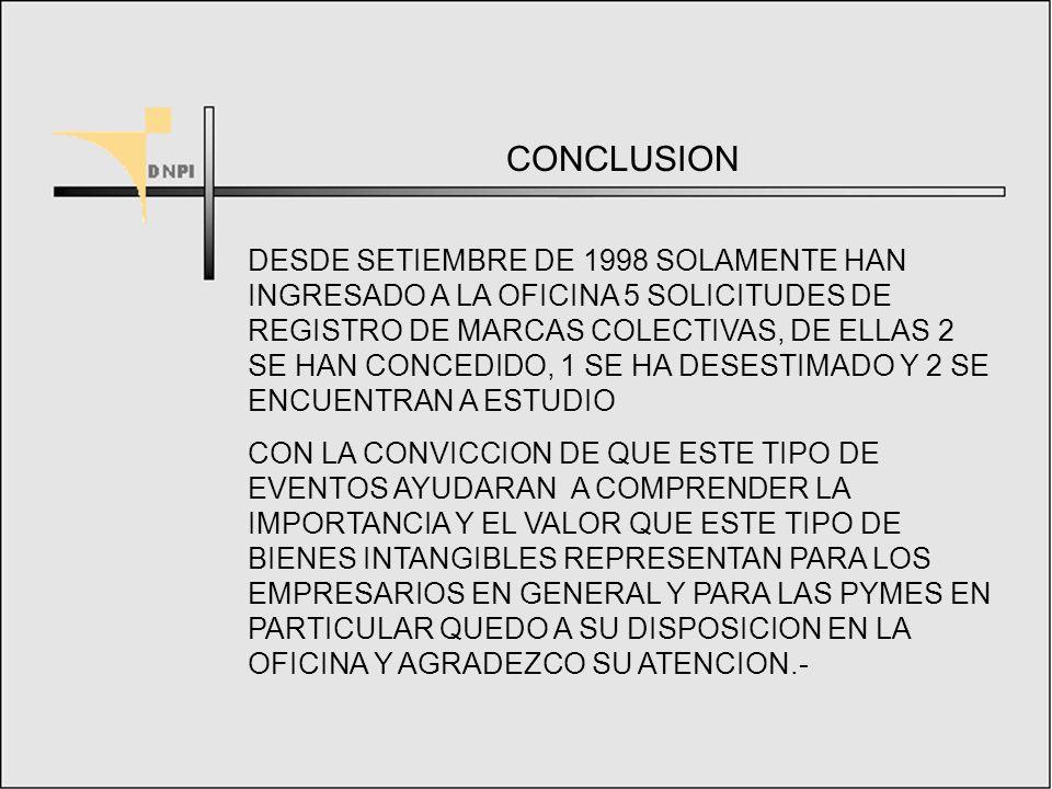PARTICULARIDADES DE LAS MARCAS COLECTIVAS 2.