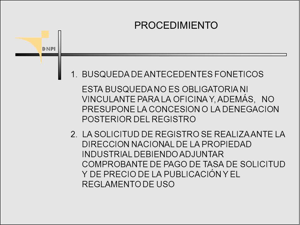 CONFUNDIBILIDAD Y PROHIBICIONES ABSOLUTAS Y RELATIVAS CONFUNDIBILIDAD: EL SIGNO SOLICITADO DEBE SER CLARAMENTE DIFERENTE A LOS YA REGISTRADOS O EN TRAMITE DE REGISTRO PROHIBICIONES ABSOLUTAS: DENOMINACIONES QUE SE EMPLEEN PARA EXPRESAR CUALIDADES O ATRIBUTOS DE LOS BIENES, LAS QUE INDICAN SU NATURALEZA, LOS SIGNOS ENGAÑOSOS, LOS EMBLEMAS DEL ESTADO, DE LA CRUZ ROJA, DEL COI, ETC PROHIBICIONES RELATIVAS: LAS OBRAS PROTEGIDAS POR DERECHOS DE AUTOR, LOS NOMBRES O RETRATOS DE TERCERAS PERSONAS SIN SU CONSENTIMIENTO, LOS SIGNOS QUE REPRODUZCAN O IMITEN A UNA MARCA NOTORIA, ASI COMO LOS QUE HAGAN PRESUMIR EL PROPOSITO DE VERIFICAR UNA CONCURRENCIA DESLEAL, ETC.