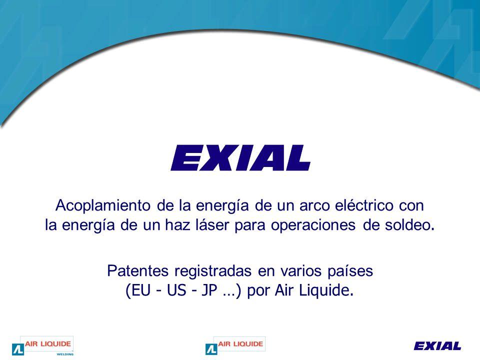 Acoplamiento de la energía de un arco eléctrico con la energía de un haz láser para operaciones de soldeo.