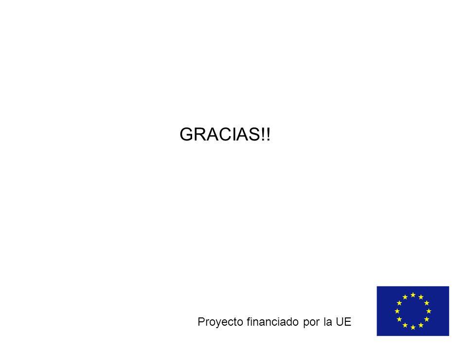 GRACIAS!! Proyecto financiado por la UE