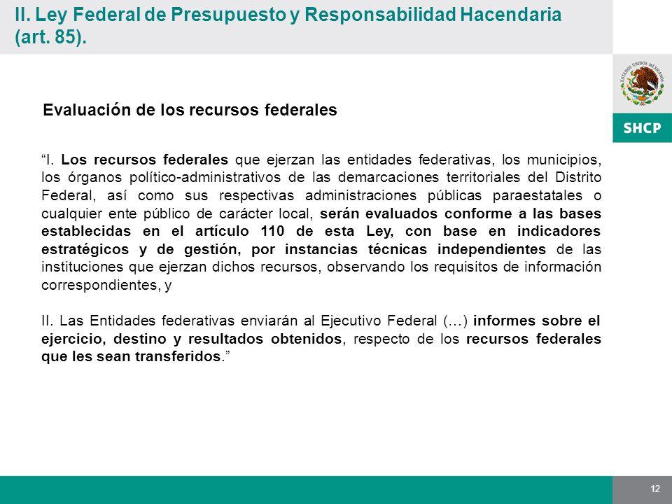 12 Evaluación de los recursos federales I.