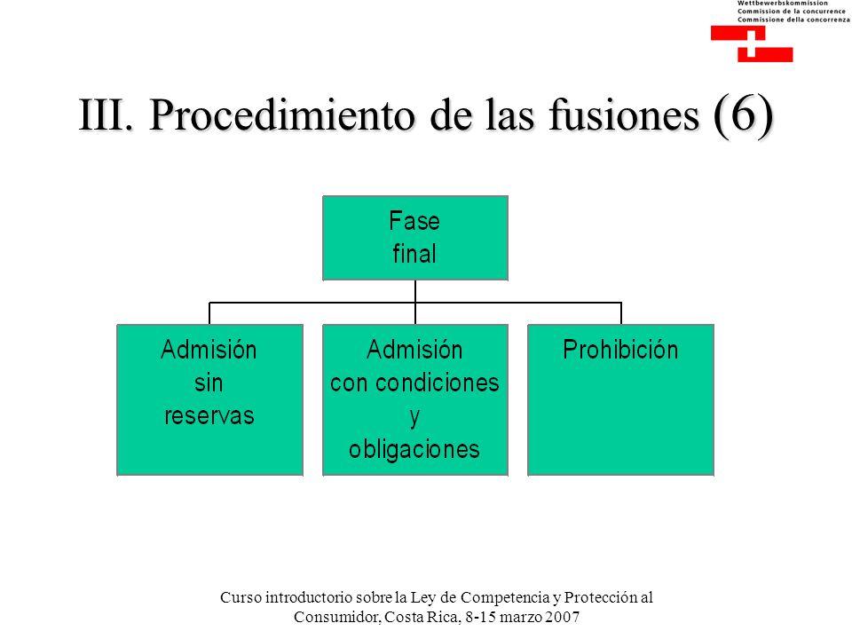 Curso introductorio sobre la Ley de Competencia y Protección al Consumidor, Costa Rica, 8-15 marzo 2007 III.
