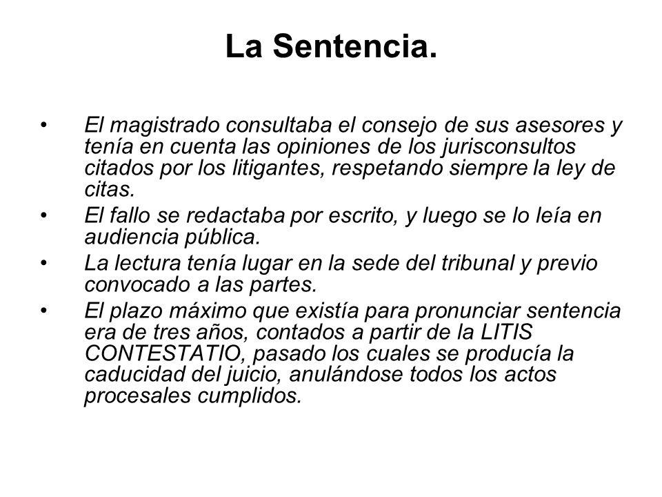 La Sentencia.
