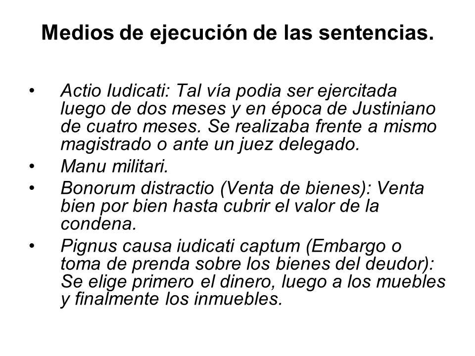 Medios de ejecución de las sentencias.