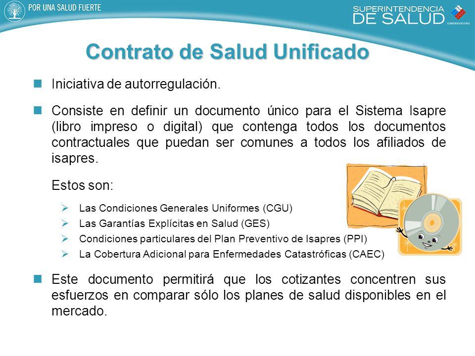 Contrato de Salud Unificado Iniciativa de autorregulación.