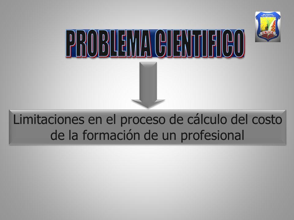 Limitaciones en el proceso de cálculo del costo de la formación de un profesional