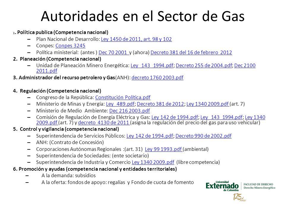 Autoridades en el Sector de Gas 1.