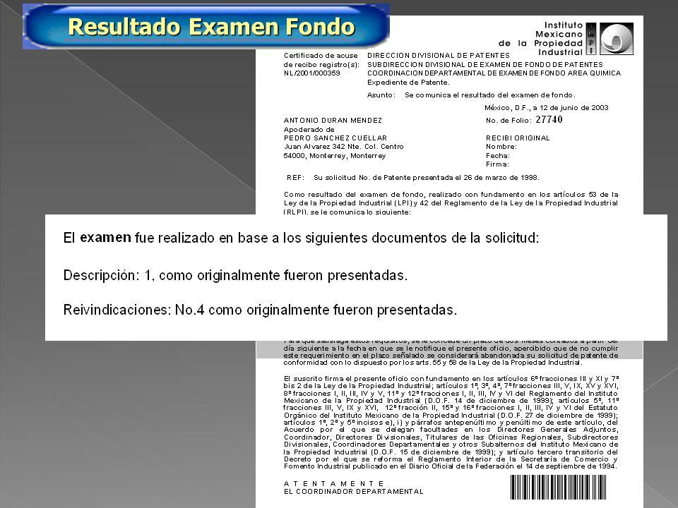 PA/2005/27740 Resultado Examen Fondo