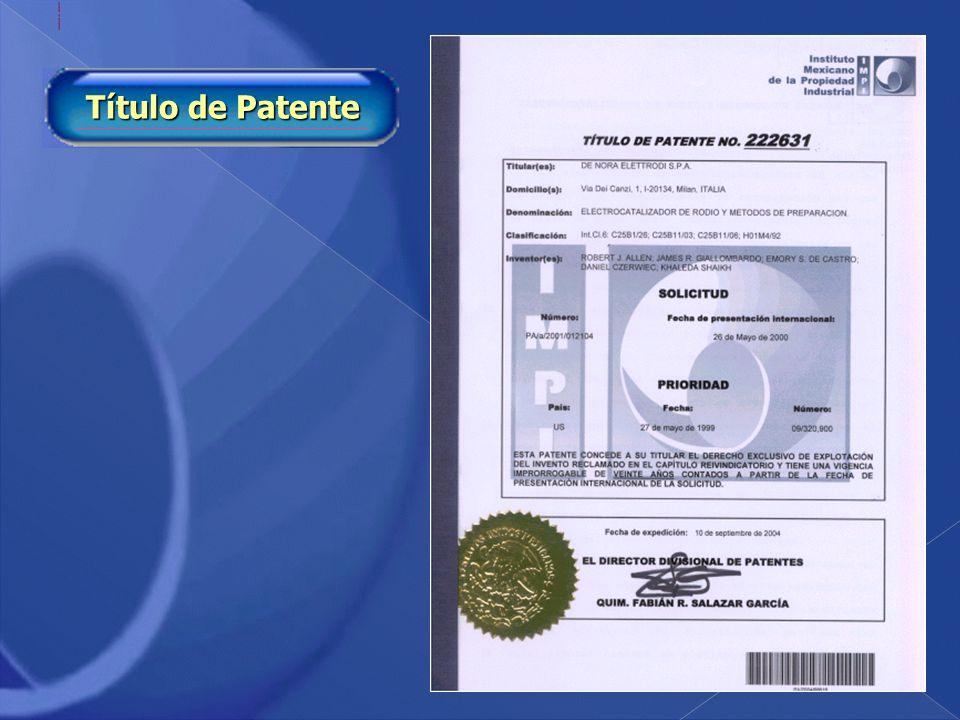 Título de Patente