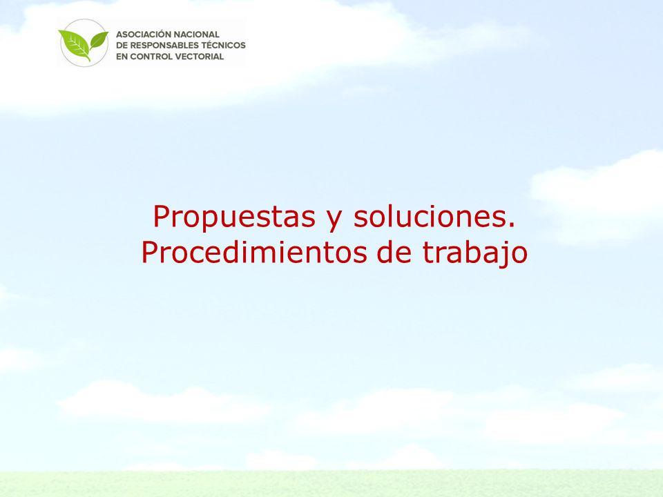 Propuestas y soluciones. Procedimientos de trabajo