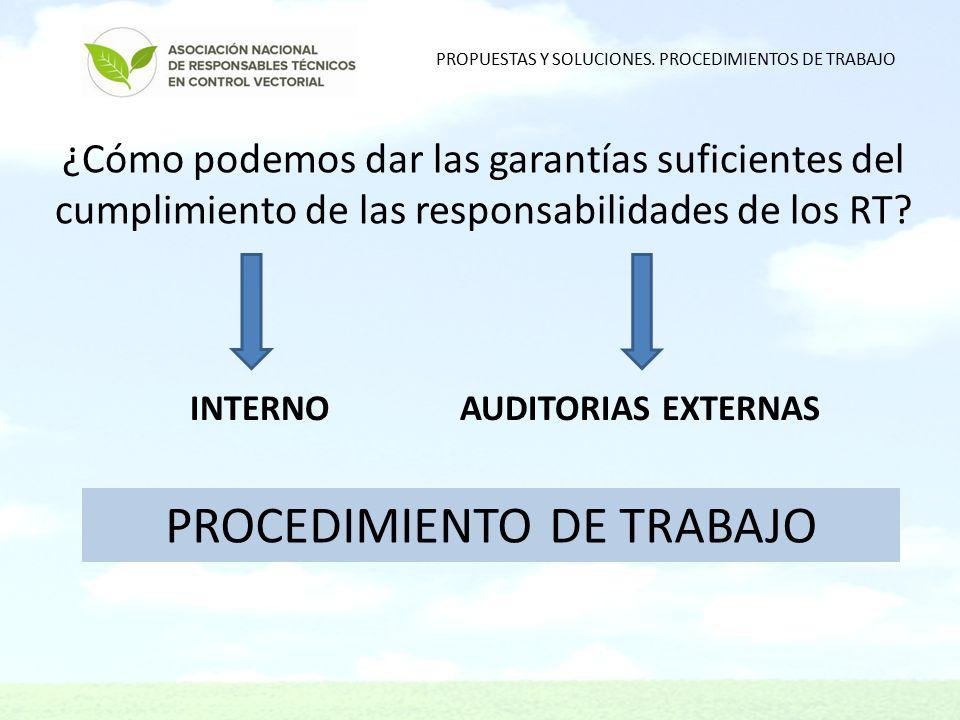 ¿Cómo podemos dar las garantías suficientes del cumplimiento de las responsabilidades de los RT.