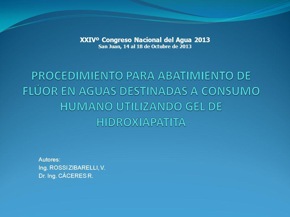 Autores: Ing. ROSSI ZIBARELLI, V. Dr. Ing. CÁCERES R.