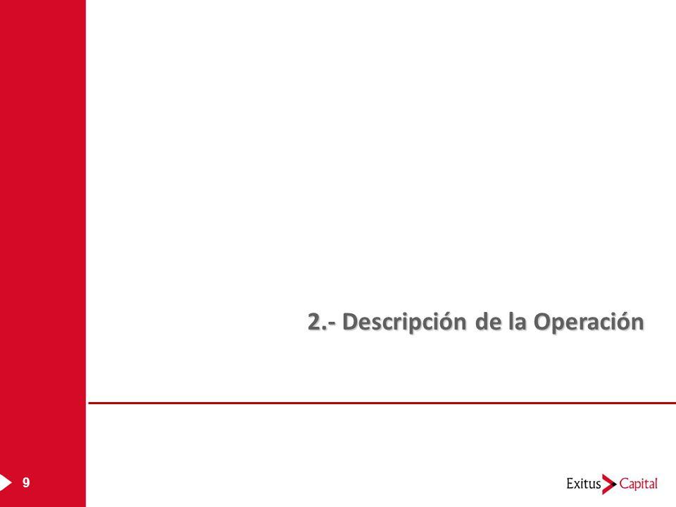 9 2.- Descripción de la Operación