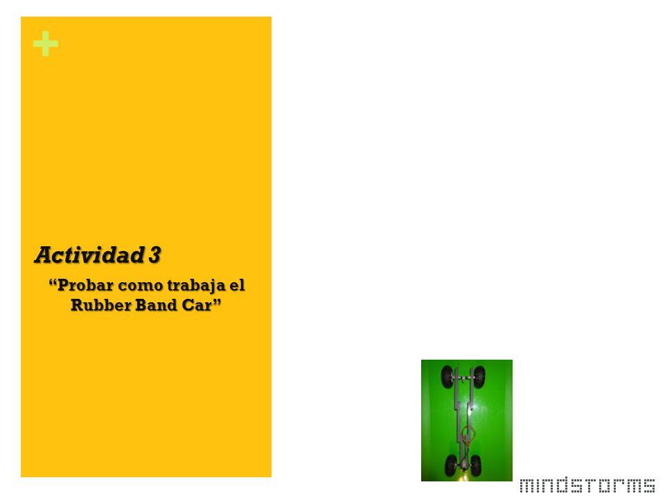+ Actividad 3 Probar como trabaja el Rubber Band Car