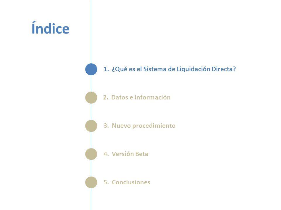 Índice 1.¿Qué es el Sistema de Liquidación Directa.
