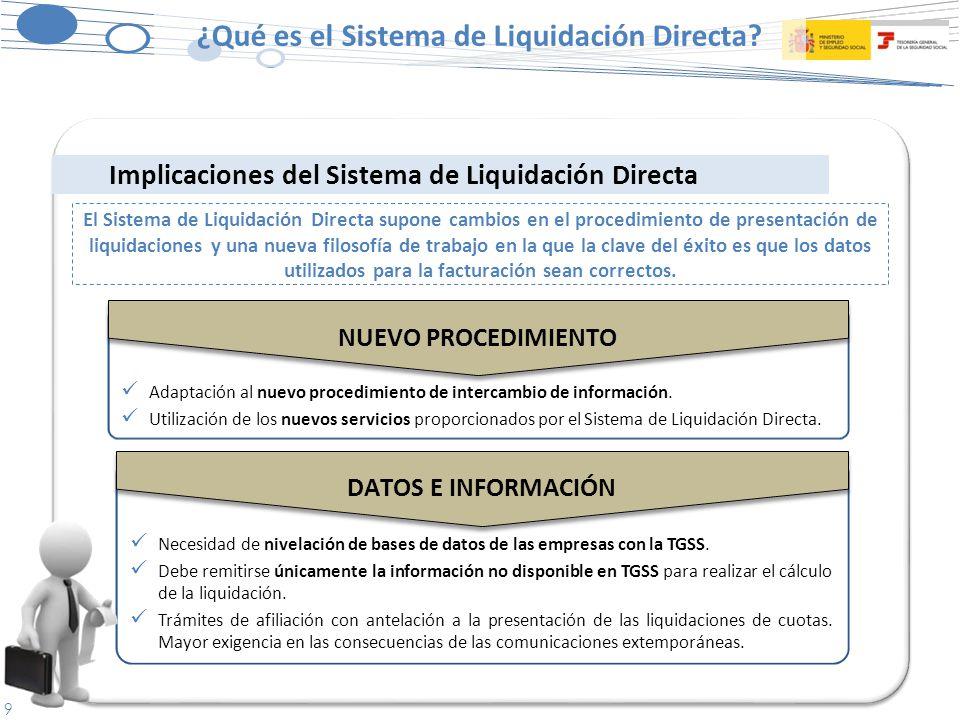 9 Necesidad de nivelación de bases de datos de las empresas con la TGSS.