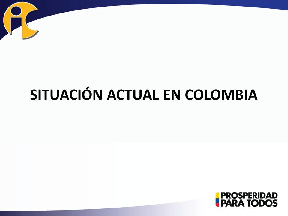 SITUACIÓN ACTUAL EN COLOMBIA