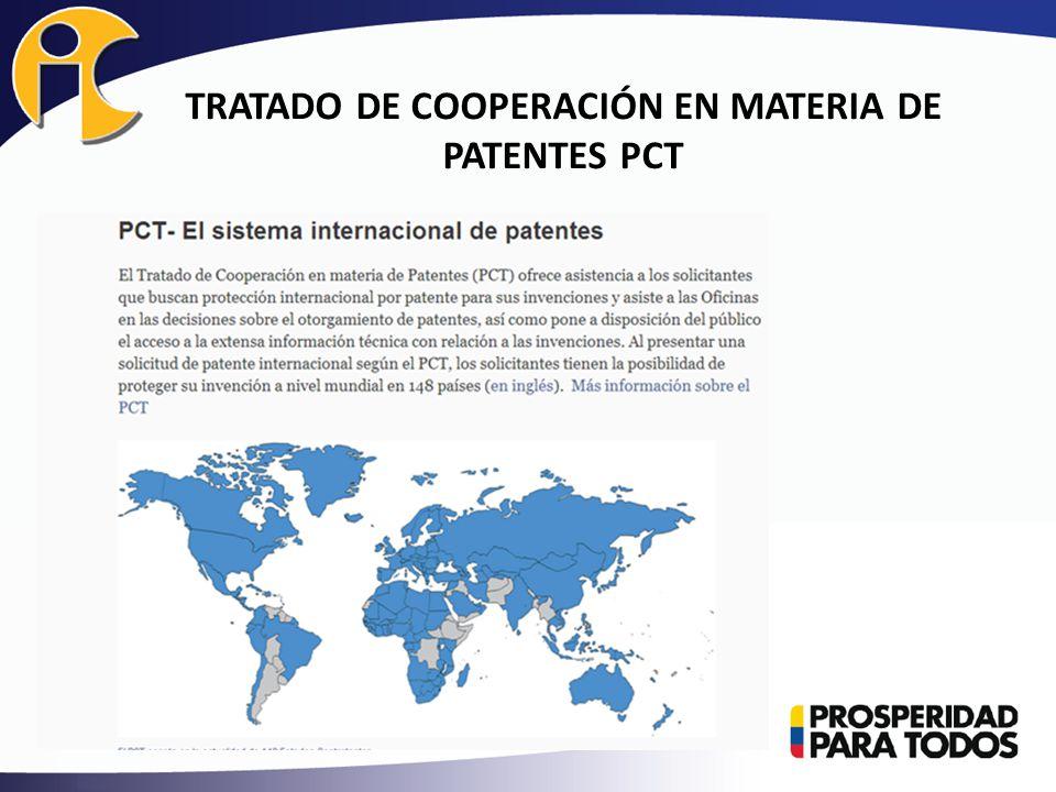 TRATADO DE COOPERACIÓN EN MATERIA DE PATENTES PCT