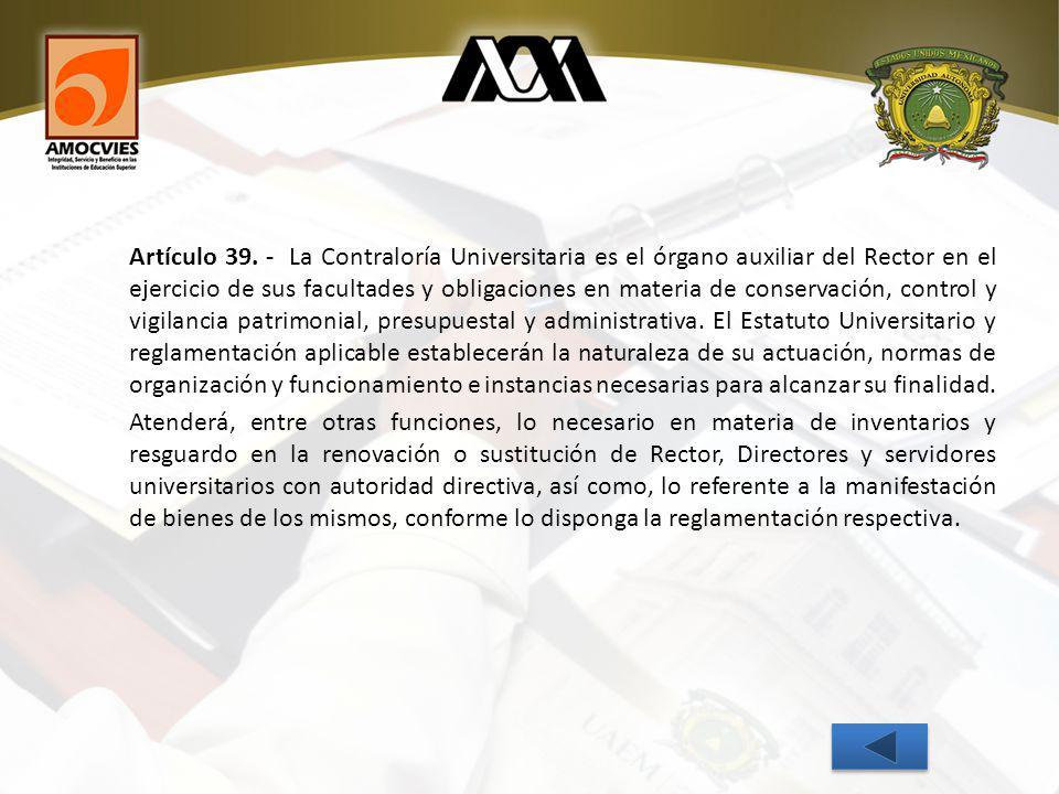 Artículo 39.