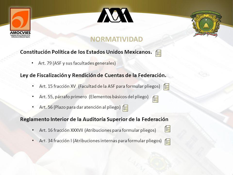 NORMATIVIDAD Constitución Política de los Estados Unidos Mexicanos.