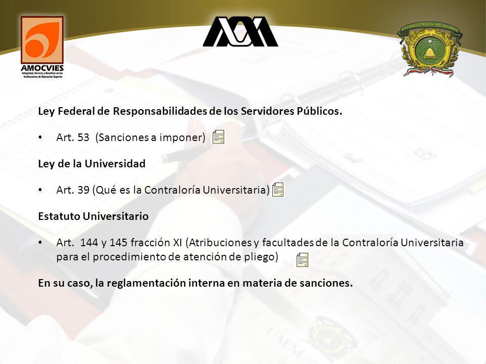 Ley Federal de Responsabilidades de los Servidores Públicos.