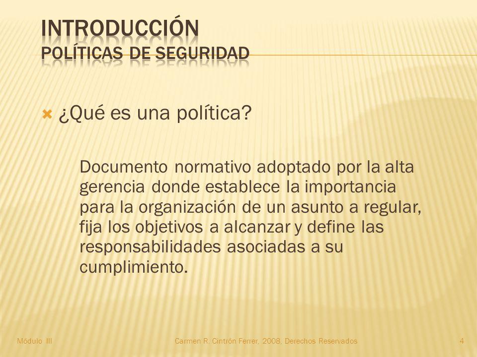  ¿Qué es una política.