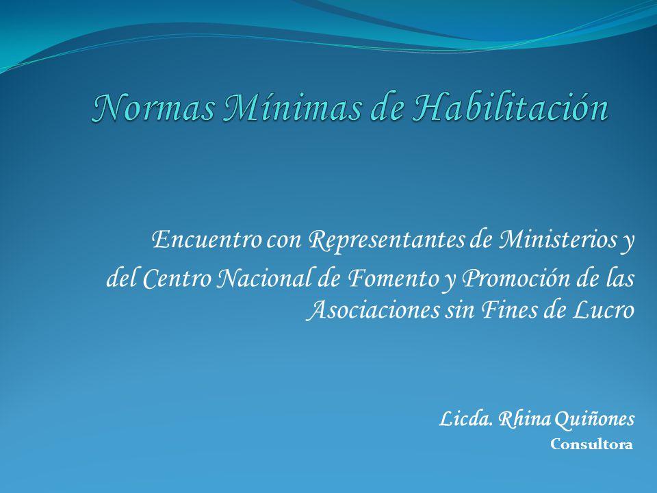 Encuentro con Representantes de Ministerios y del Centro Nacional de Fomento y Promoción de las Asociaciones sin Fines de Lucro Licda.