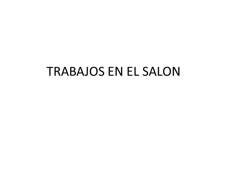 TRABAJOS EN EL SALON
