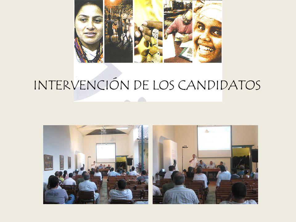 INTERVENCIÓN DE LOS CANDIDATOS
