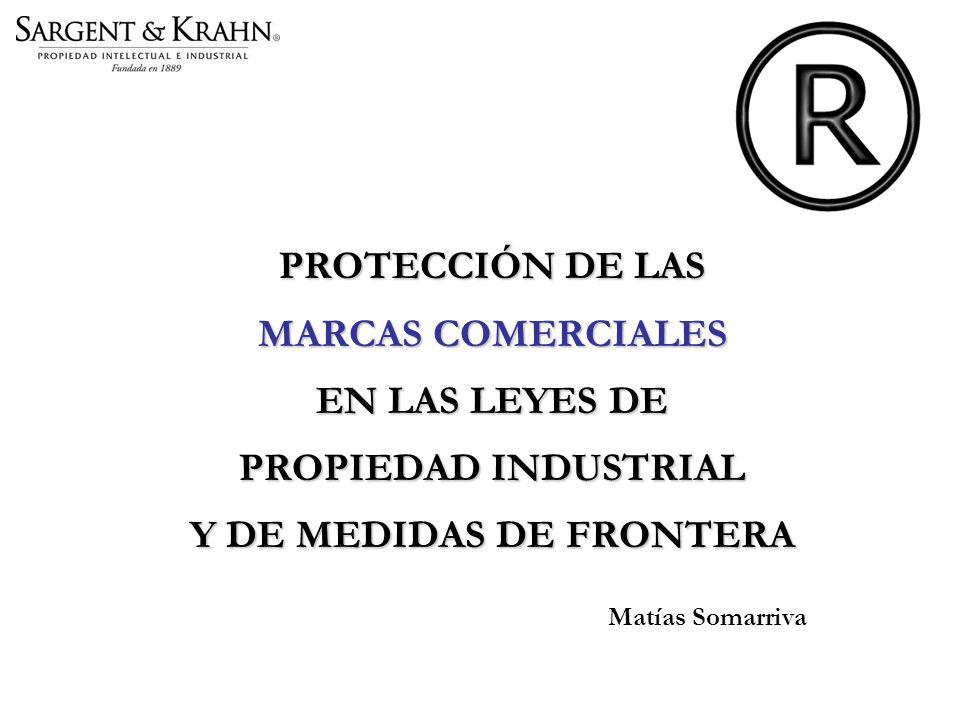 PROTECCIÓN DE LAS MARCAS COMERCIALES EN LAS LEYES DE PROPIEDAD INDUSTRIAL Y DE MEDIDAS DE FRONTERA Matías Somarriva