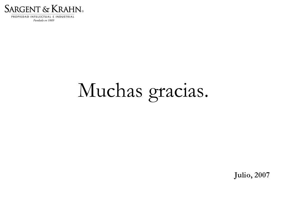 Muchas gracias. Julio, 2007