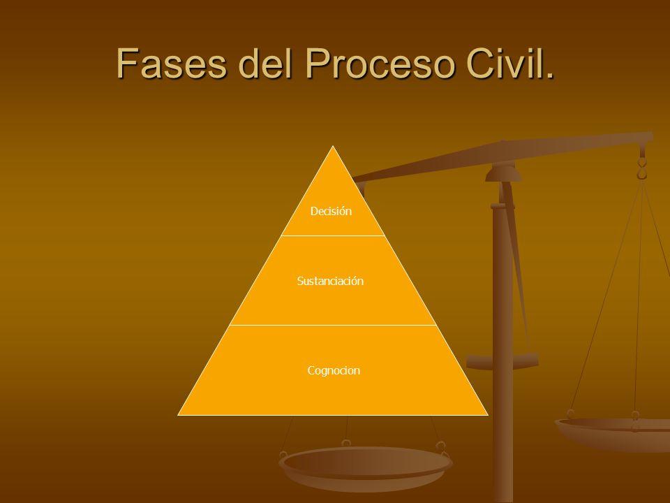 Fases del Proceso Civil. Decisión Sustanciación Cognocion