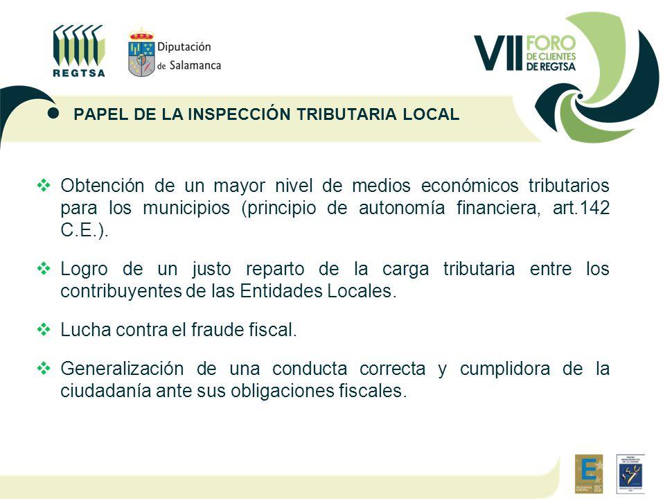  Obtención de un mayor nivel de medios económicos tributarios para los municipios (principio de autonomía financiera, art.142 C.E.).