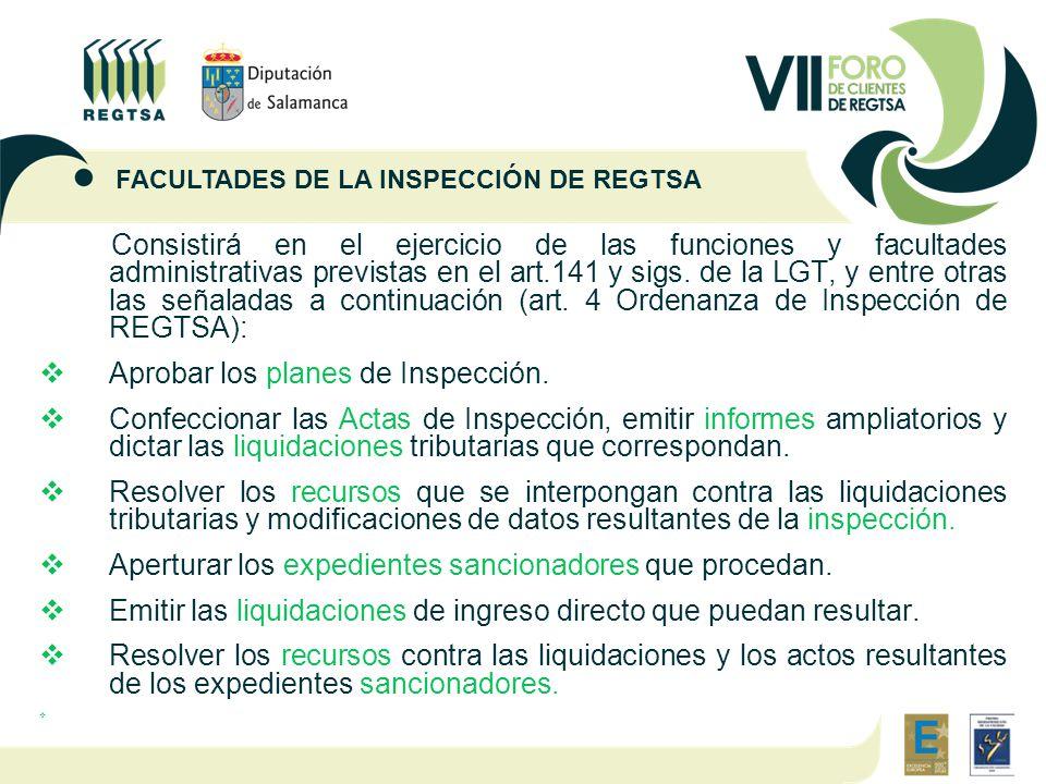 Consistirá en el ejercicio de las funciones y facultades administrativas previstas en el art.141 y sigs.