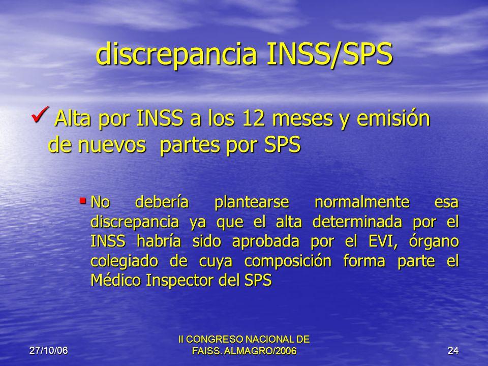 27/10/06 II CONGRESO NACIONAL DE FAISS.