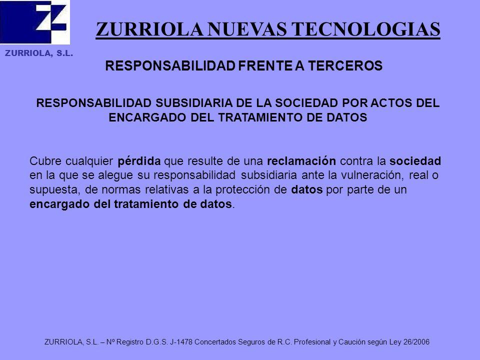 ZURRIOLA NUEVAS TECNOLOGIAS ZURRIOLA, S.L. ZURRIOLA, S.L.