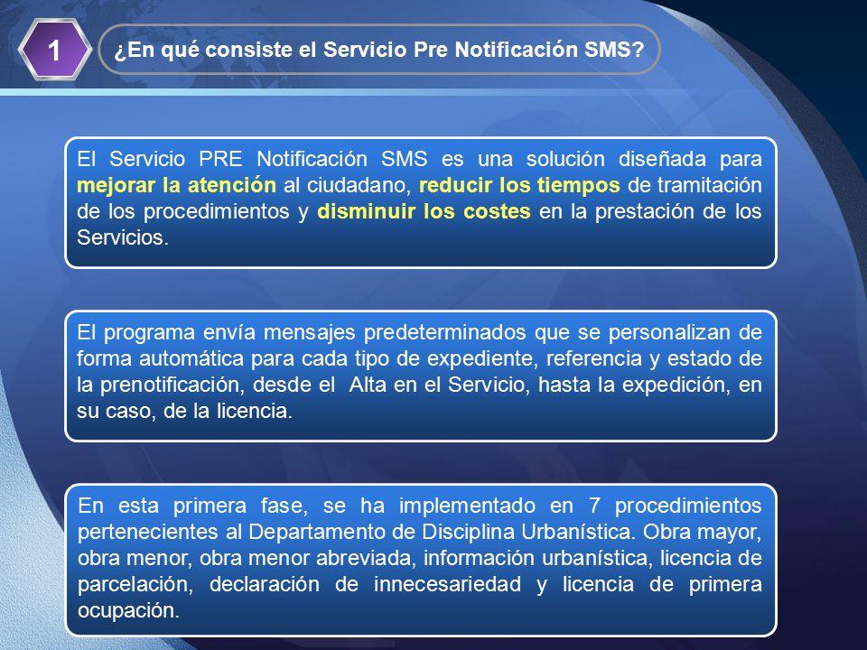 LOGO 1 ¿En qué consiste el Servicio Pre Notificación SMS.