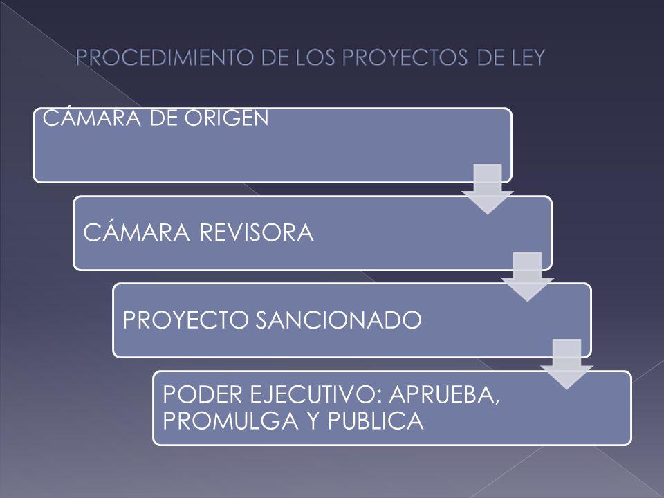 CÁMARA DE ORIGEN CÁMARA REVISORAPROYECTO SANCIONADO PODER EJECUTIVO: APRUEBA, PROMULGA Y PUBLICA