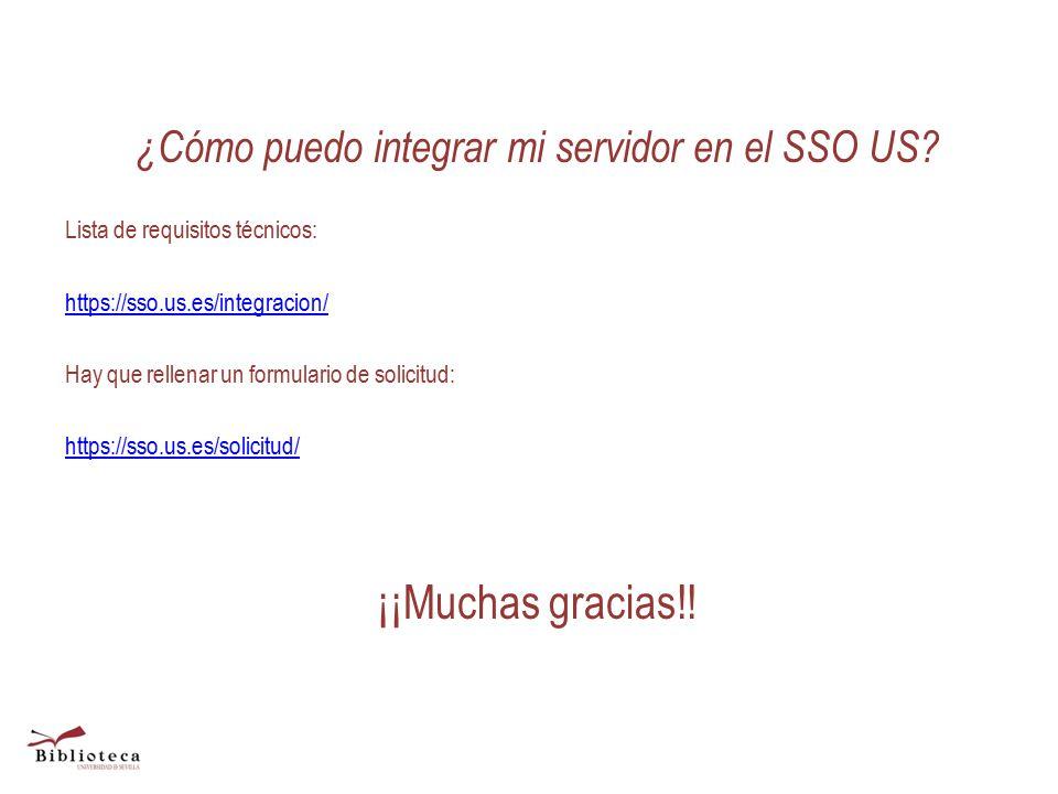 ¿Cómo puedo integrar mi servidor en el SSO US.